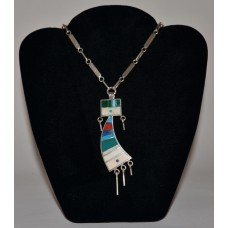 Necklace, inlaid yei