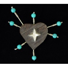 """The Heart Constellation"" Brooch by Heidi BigKnife"
