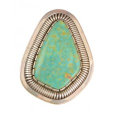 Triangle Turquoise Ring by Walter Vandever