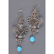 Fleur De Lis earrings by Jennifer Jesse Smith