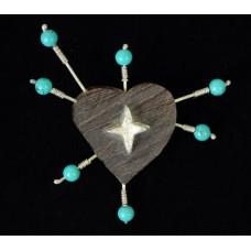 """The Heart Constellation"" Brooch by Heidi BigKnife"