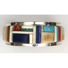 Inlaid Cuff Bracelet by Herman Smith