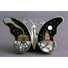 Inlaid Butterfly Pendant