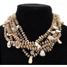 7 Strand Abalone Necklace by Nellie Tenorio