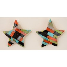 Jolene Bird Inlaid Star Earrings