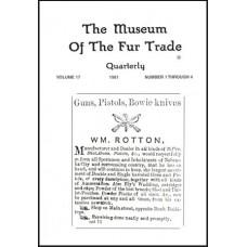 Museum of the Fur Trade Quarterly, Volume 17, 1981