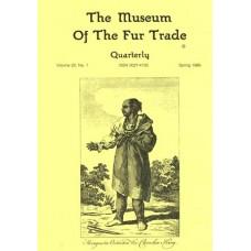 Museum of the Fur Trade Quarterly, Volume 22:1, 1986