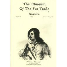 Museum of the Fur Trade Quarterly, Volume 25, 1989